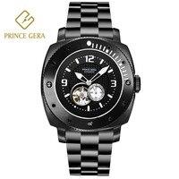 Цена Гера Скелет Мужские автоматические часы устойчивый к царапинам водостойкие спортивные часы прочный мужской механические Военные час
