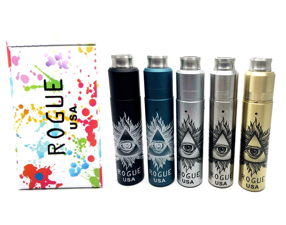 Vaporizer Rogue USA Kit With 5 colors Rogue full Mechanical Mod Rebuildable Dripping Atomizer 18650 Battery
