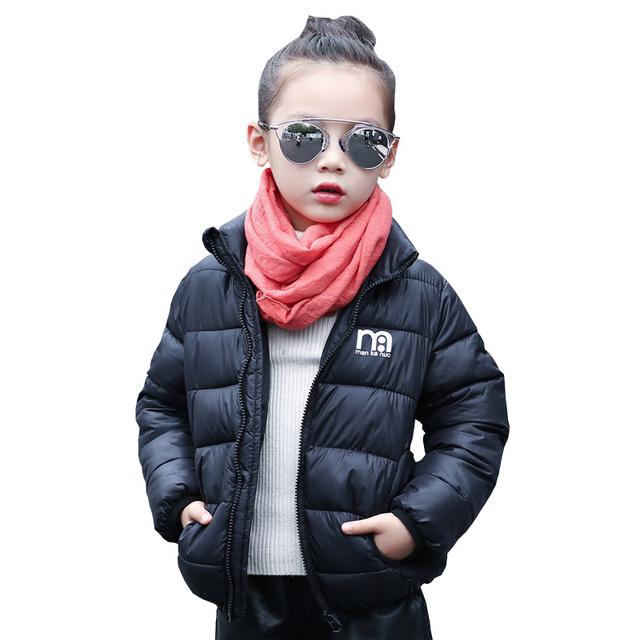 Novo Bebê Inverno menino/menina Para Baixo Casaco Jaqueta Infantil Jaqueta Meninas Do Bebê Para Crianças Casaco de Inverno Outwear Moda 2017