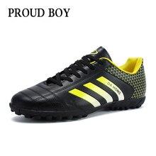 Profesional Sepak Bola Dalam Ruangan Sepatu Berkualitas Tinggi Sepatu Sepak  Bola Pelatihan Cleat Sepatu Pria Hot aa7f9e9268