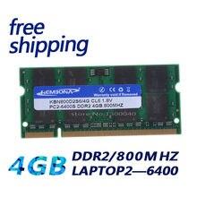 Kembona novo 4 gb pc2 6400 ddr2 800 mhz 200pin sodimm portátil notebook ram SO-DIMM frete grátis