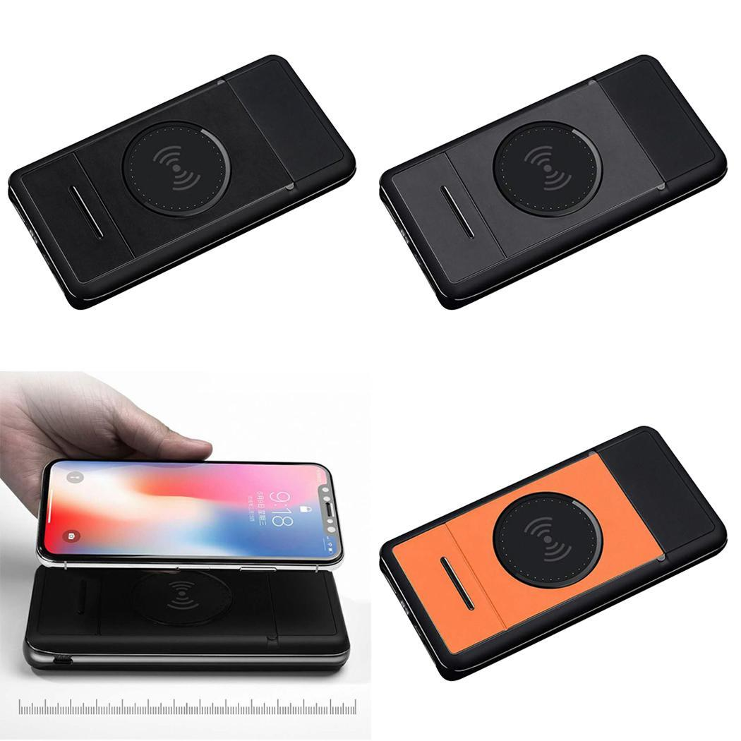 Qi Wireless 20000mAh Charger Digital Power Bank For Samsung Xiaomi iPhone X 8 7 Quick Charge Powerbank Phone Holder