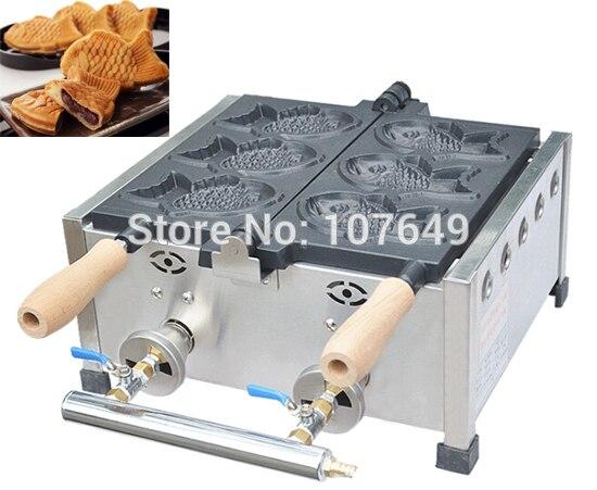 Hot Sale 3pcs Fish Commercial Use Non-stick LPG Gas Taiyaki Maker Iron Machine Baker велосипед stels navigator 310 2016