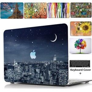 """Image 1 - ラップトップケースノートブックタブレットシェルキーボードカバーバッグパッド用 11 12 13 15 """"macbook proの網膜タッチバー空気A1466 A1369 t"""