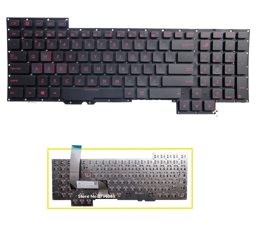 New US Keyboard for ASUS G751J G751 G751JY G751JT G751JL G751JM laptop keyboard free shipping 95% new good working and new for hisense air conditioner computer board kfr 60l 36bp rza 4 5174 312 xx 3 board on sale