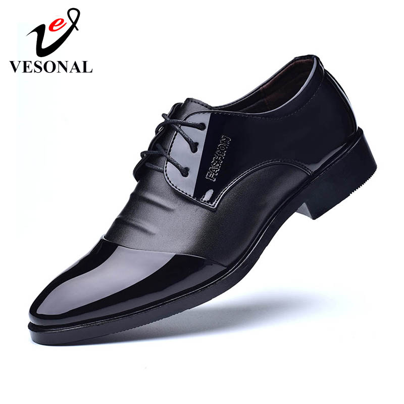 a6e464ac38 BIMUDUIYU Brand Classic Man Pointed Toe Dress Shoes Mens Patent ...