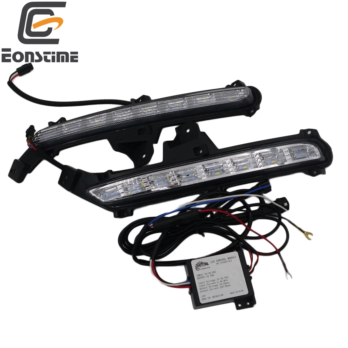 Eonstime 2pcs 12V Car AutoAutomotive Lamp DRL LED Daytime Running Light Fog lights Turn lights For