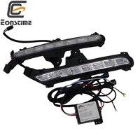 Eonstime 2pcs 12V Car AutoAutomotive Lamp DRL LED Daytime Running Light Fog lights Turn lights For For KIA Rio K2 2015 2016 2017