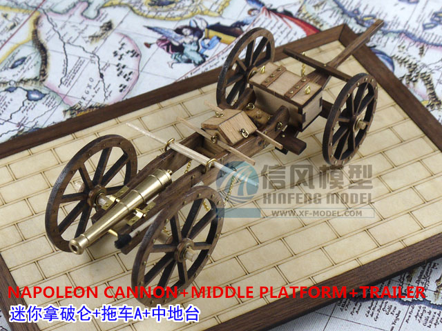 HOT wooded scale models scale weapons napoleon period NAPOLEON CANNON MIDDLE PLATFORM TRAILER scale wooden military