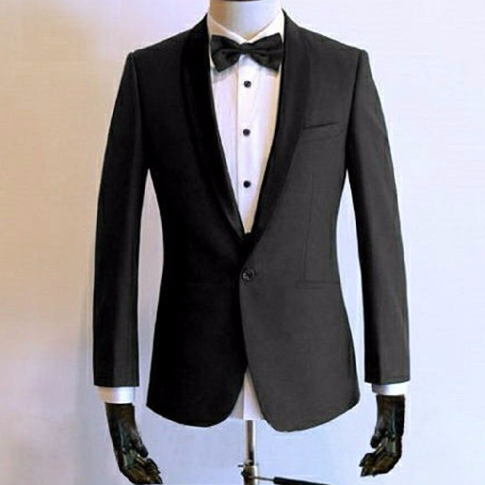 54c2e086a1ff1e Two-piece Suit Wedding Suits For Men Custom Made Charcoal Grey Tuxedo Men ,Bespoke