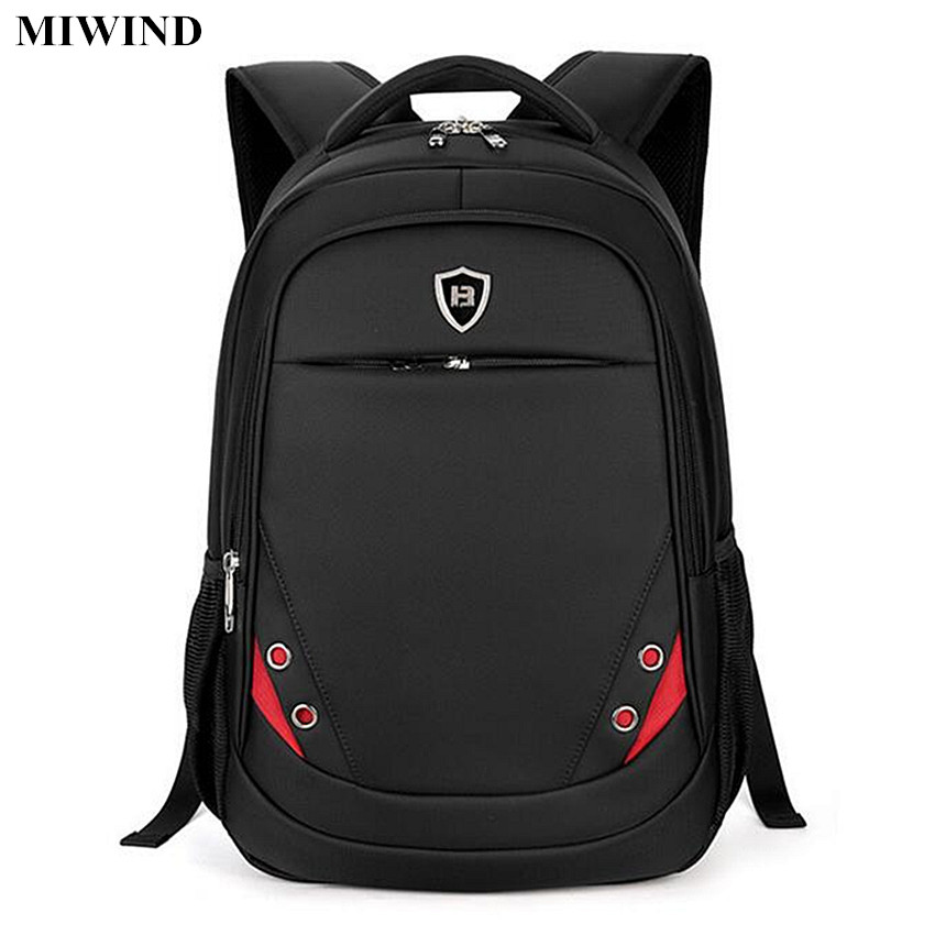 ФОТО MIWIND Mens Business Backpack Waterproof 15.6inch Laptop Backpack Computer Bags Anti-theft Travel Backpacks Students School Bags