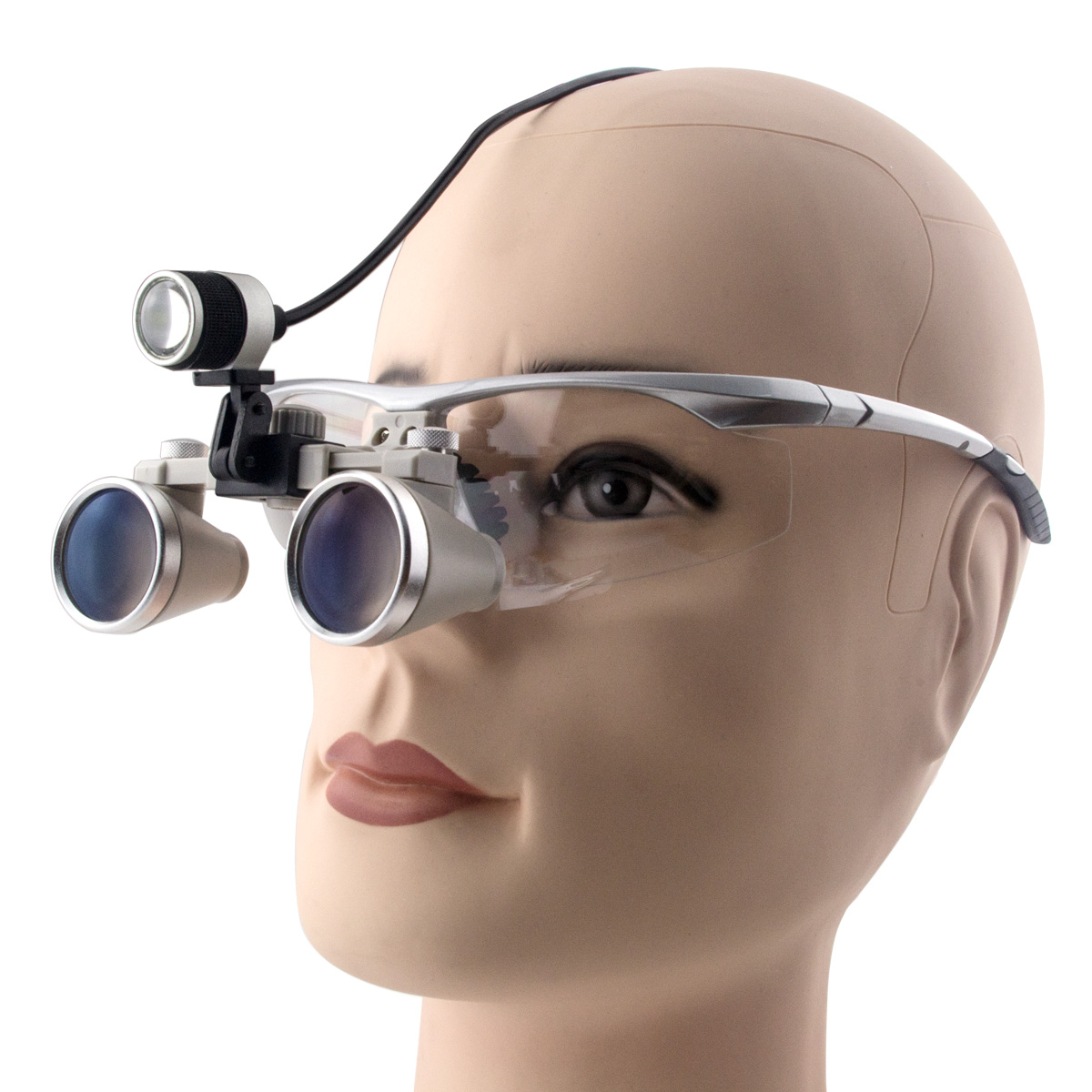 Spark 2.3X Magnification 360-460mm Dental Loupes Surgical Jeweler Loupes Glasses BP Sports Frame with LED Head Light spark 5 0x magnification professional
