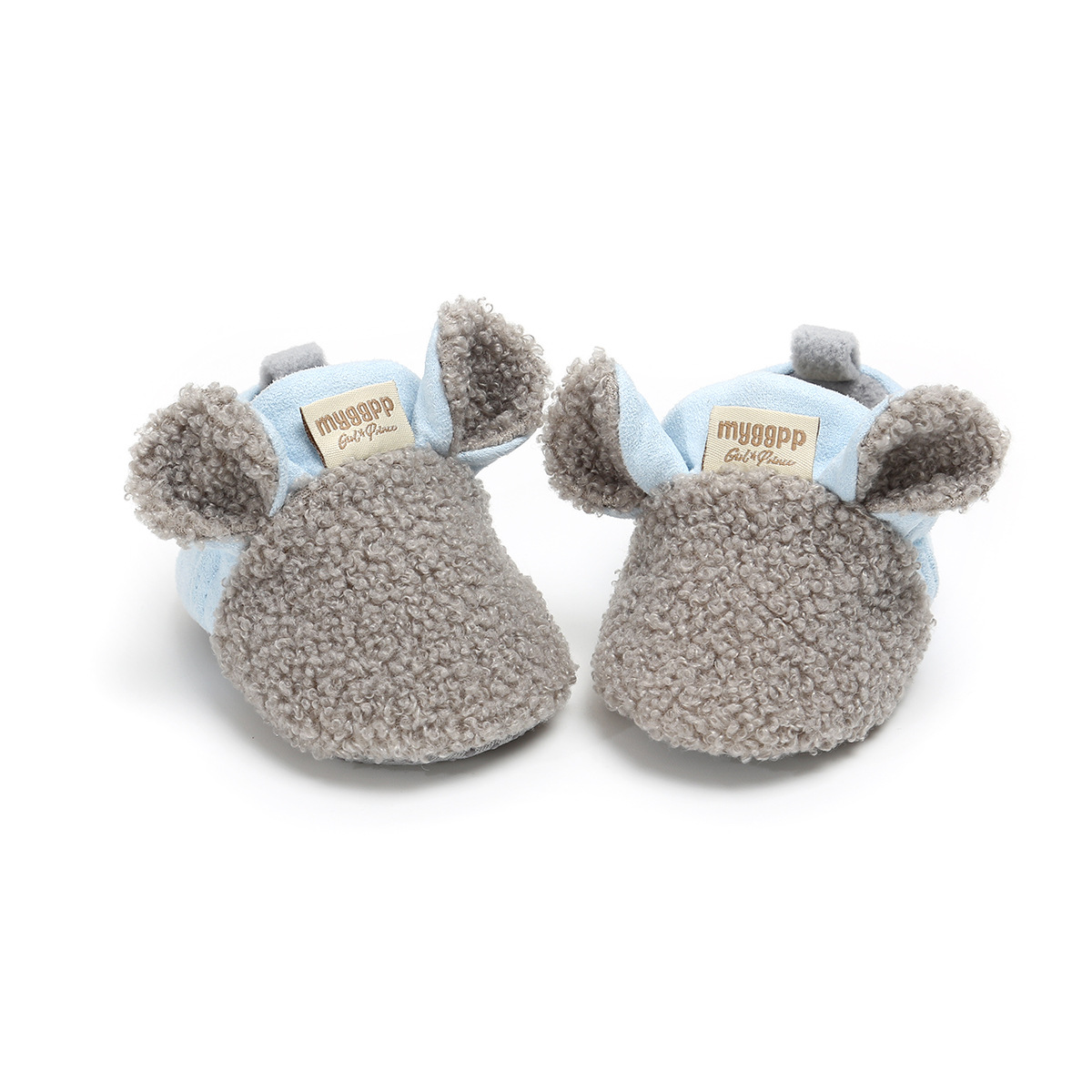 Gray Infant Shoes 2018 Winter Cotton Warm Boys First Walkers Shoes Hot Moccs Soft Soled Non-slip Baby Shoes Crib Shoes.CX54C