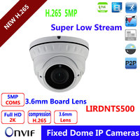 Varifocal Lens 2 8 12mm Dome POE Vandalproof IP Camera IMX178 Hi3516A Solution 5MP Full HD