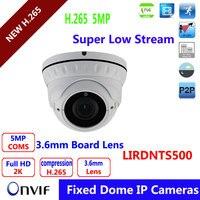 Varifocal Lens 2 8 12mm Dome POE Vandalproof IP Camera IMX178 Hi3516A Solution 5MP Full HD