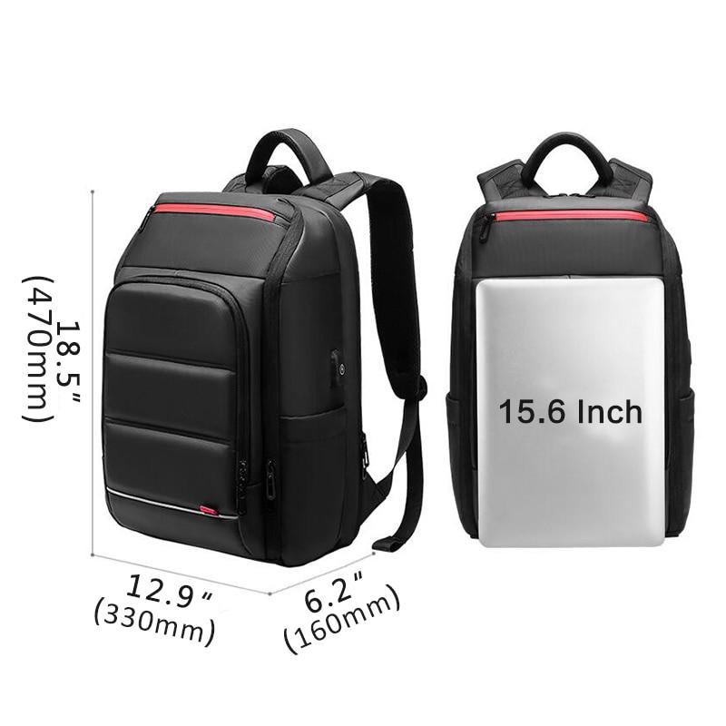 Nouveau sac à dos pour ordinateur portable 15.6 pouces pour hommes sac à dos fonctionnel hydrofuge avec Port de chargement USB sacs à dos de voyage mâle n0003-in Sacs à dos from Baggages et sacs    3