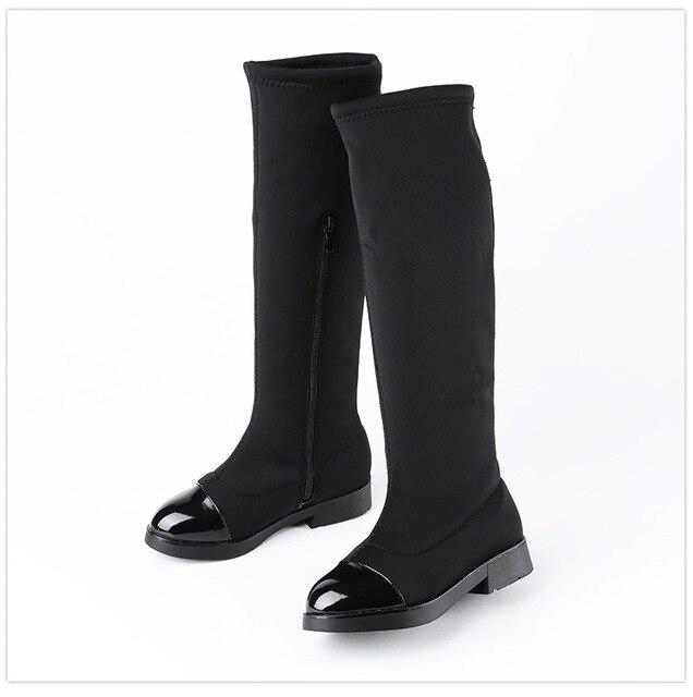 1d1621505 2017 Moda EURO Inverno Meninas Joelho Botas Altas Crianças Sapatos Quentes  Crianças Botas de Cano Alto