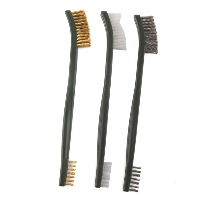Hot 3pc Wire Cleaning Brush Set Br Nylon Stainless Steel Bristle Gas Stove Cleaner Kitchen Tools