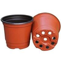 50Pcs Plastic Flower Pots Planters Double Color Garden Plant Nursery Pots Container For Growing Herbs Smaller
