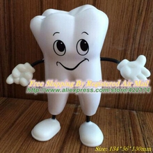 Free Shipping Tooth Figure Squeeze Toy PU Tooth Stress Reliever Dental Promotional Gifts