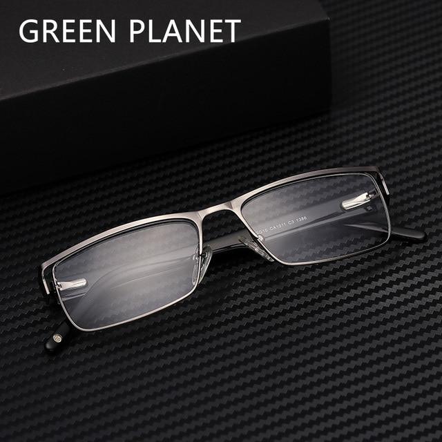 937d73d31dc Metal Men Glasses Prescription Fashion Double Layer Brand Designer Clear  Myopia Optical Eyeglasses  CA1011