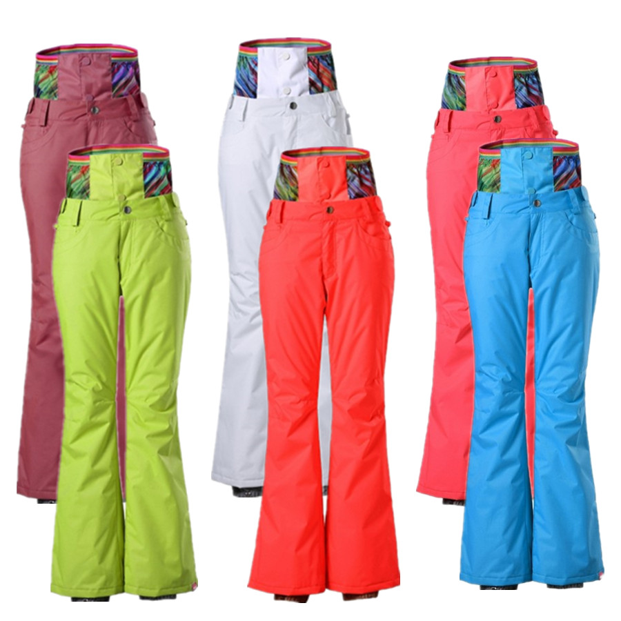 Snow Gsou genuine outdoor protection waist design ski pants female thickening winter storm waterproof