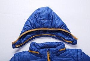 Image 4 - Abrigo cortavientos a prueba de viento para niño, chaqueta desmontable con capucha para niño, Otoño e Invierno