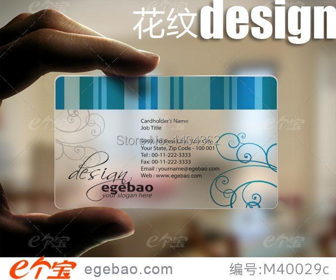 exquisite one face printing exquisite Custom business cards visit card printing transpar ...