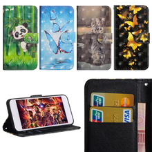 Luxury Flip Leather Case For  LG Q6 alpha Q6a Q 6 Cover 3D Painted Wallet Card Slot Cover For LG Q 6 Plus M700A Q6 Prime Q6 Mini цена