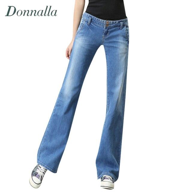 Women Jeans Loose Low Waist Pantalones Vaqueros Mujer Bell Bottom Flare  Jeans Woman Vintage Long Boot Cut Femme Women Pants aac53b58fa48