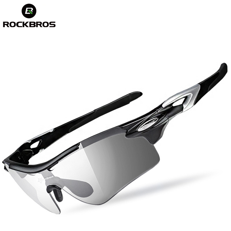 ROCKBROS Polarized Sport Glasses Outdoor Cycling Bicycle Photochromatic Hiking Mount Sunglasses Goggles Eyewear Myopia Frame aquapulse 4122b grey black
