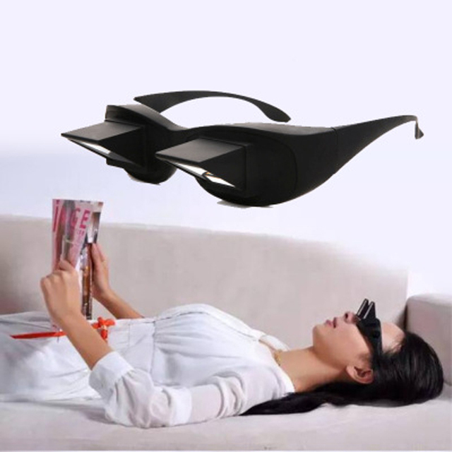 6347718c5f29 Periscope Horizontal Reading TV Sit View Glasses On Bed Lie Down Bed Prism  Spectacles Horizontal Lazy Prism Angled Glasses