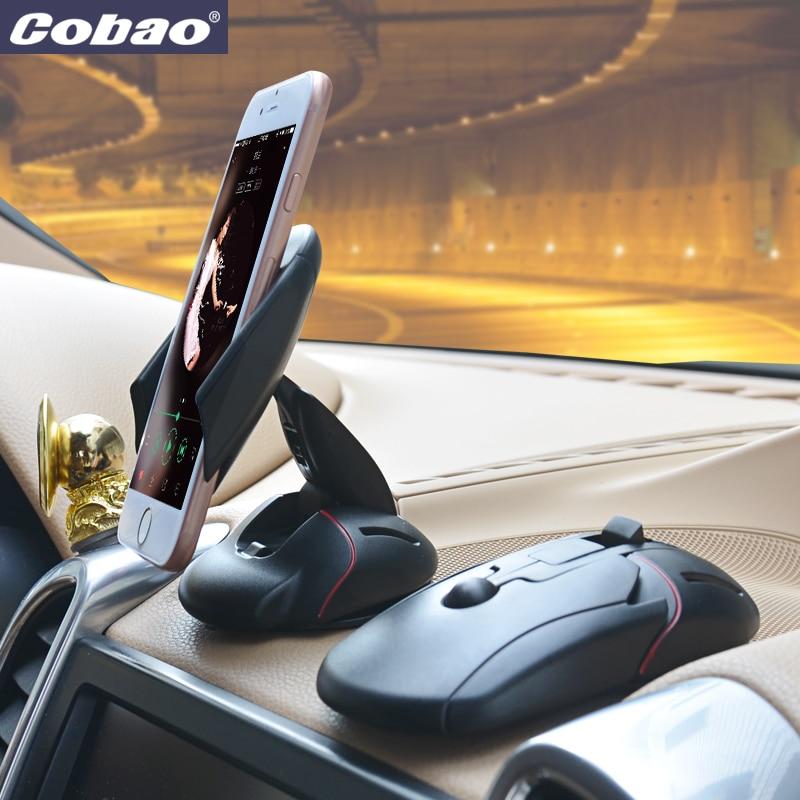 2017 cobao teléfono móvil titular de teléfono para coche y universal car dashboa