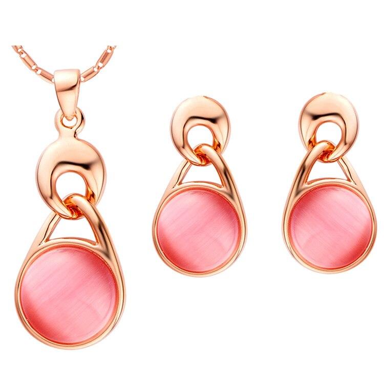suit 925 Sterling Silver Set cat eye set pendant earring drops spot wholesale water drops sterling-silver-jewelry