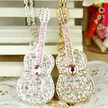NEW Crystal Guitar Usb Jewelry Flash Drive 64GB 32GB 16GB 8GB Pen Drive Pendrive Usb Creativo Flash Memory Stick Card Gifts Gift