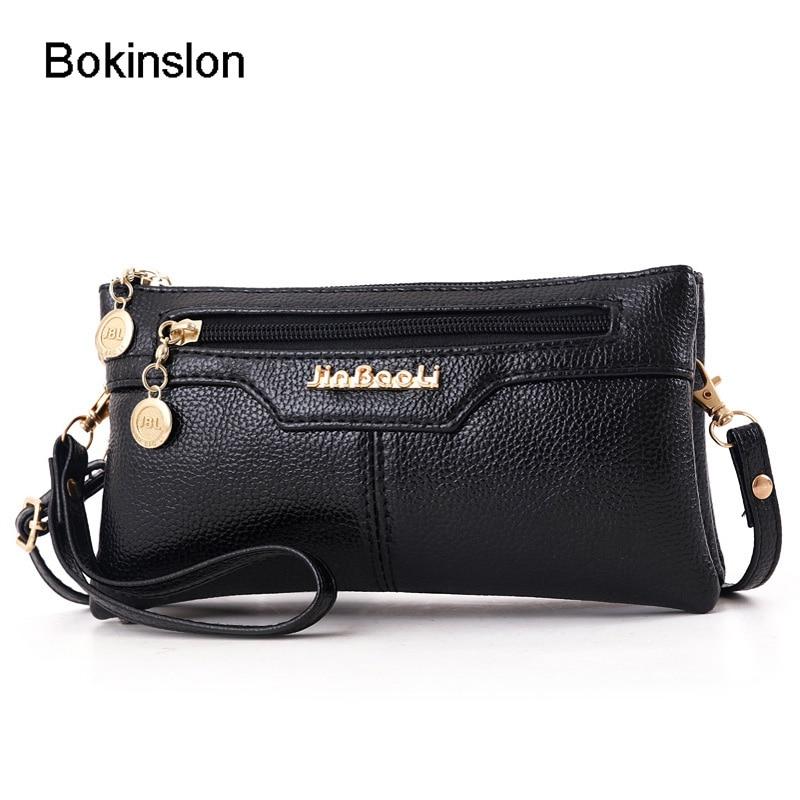 Bokinslon Women Wallets Fashion PU Leather Long Zipper crossbody shoulder bag womenBokinslon Women Wallets Fashion PU Leather Long Zipper crossbody shoulder bag women