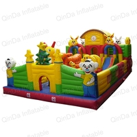 Wholesale Bouncy Castles Juegos Games Jumping Inflatable Bouncy Trampoline House Obstacle Course Play Jumping Bed For Kids