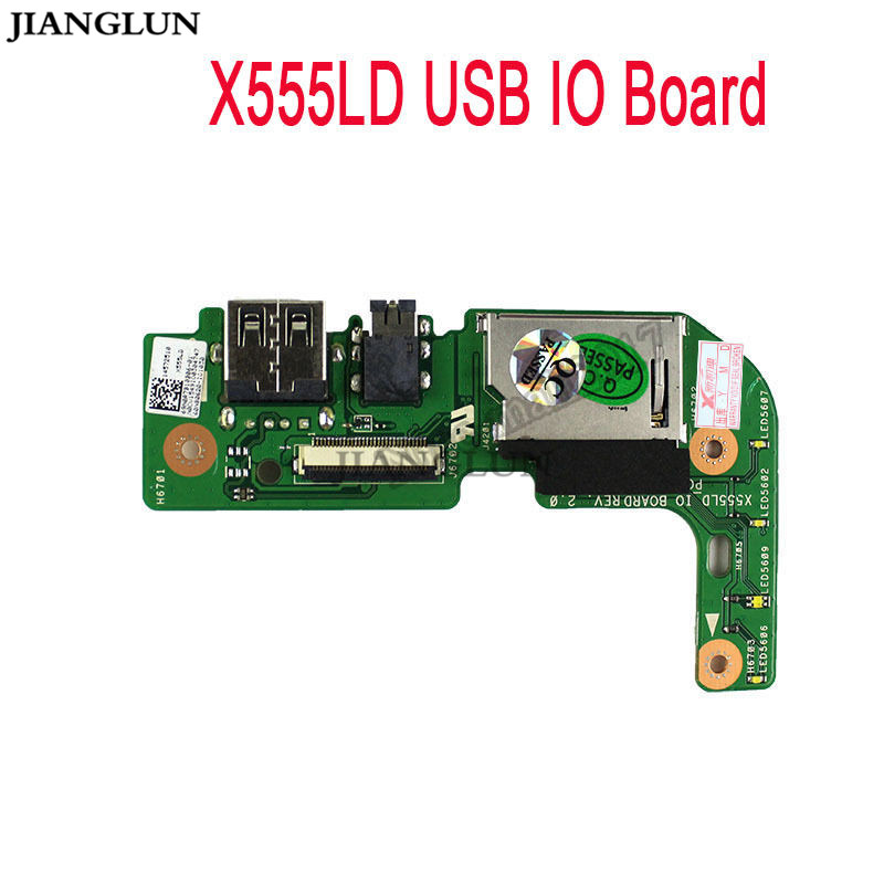 JIANGLUN Audio USB JACK CARD READER Board IO Board For ASUS X555 X555L X555LD X555LD inkjet printer infinity challenger fy 3206 fy 3208 fy 3278 phaeton io board for seiko 510 usb io card