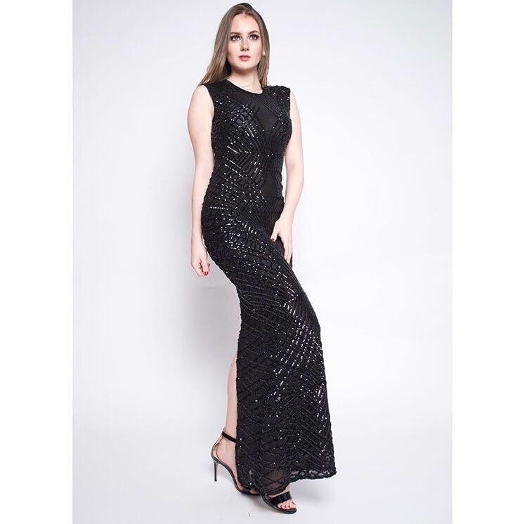 Kleid Pailletten handel Sexy Kleider Sonderangebot SchwarzRot Slit Mode Nacht Backless Con Gro Promi Club Party Oansatz Body CBrdxeWo