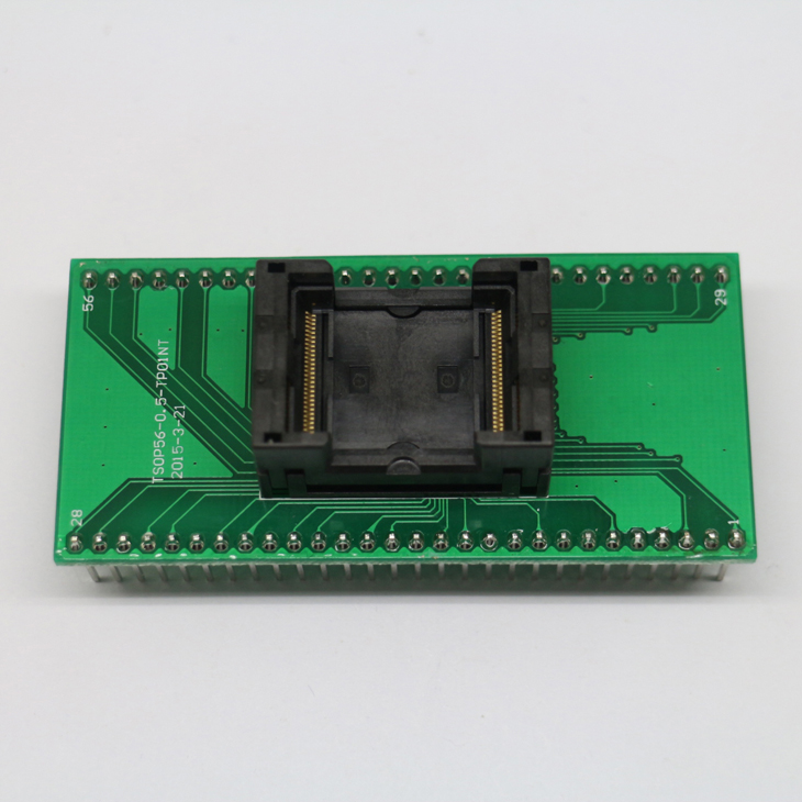 Tsop56 Tsop48 To Dip56 Adapter Pcb Board For Am29 Series Ic 0.5mm 0.65mm Pitch Transfer Board Active Components