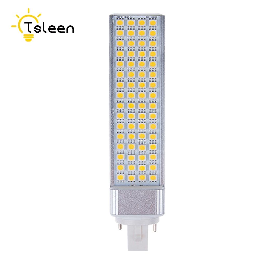 Cheap G24 LED Bulbs 220V 240V 9W 11W 13W LED Corn Bulb Lamp Light SMD 5050 Spotlight 180 Degree AC85 265V Horizontal Plug Light free shipping led corn bulb e27 g24 smd5050 led light 180 degeree ac85 265v 9w 12w 13w 15w 16w led horizontal plug lamp