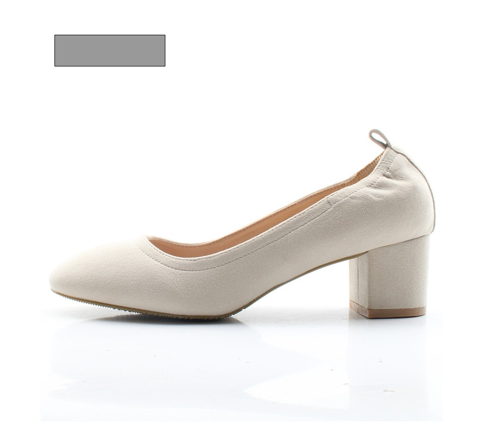 Shoes Women Genuine Leather Fashion Office and Career Rounded Toe 2-inch Block Heel Fashion Office Lady Pumps Size 34-41, K-307 66