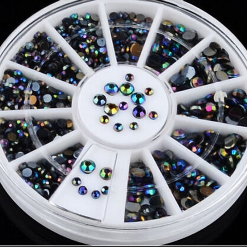 Aliexpress 1pcs Round Wheel Rhinestones Glitter Nail Art Tips Decorations Acrylic Supplies Charms Be Manicure Accessories From