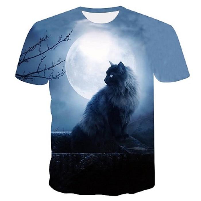 Новинка, футболка для мужчин/женщин, 3d принт, мяу, черный, белый, кот, хип-хоп, Мультяшные футболки, летние топы, футболки, модные 3d футболки, M-5XL - Цвет: txu-148