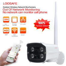 LOOSAFE HD 720P Security Wifi IP Camera Wireless Waterproof Outdoor Infrared Night Vision P2P Home Security Bullet Camera
