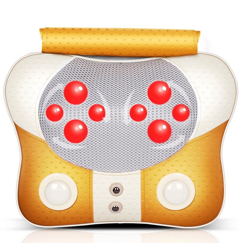multifunctional vibration massage device for cervical neck waist back shoulder massage pillow household