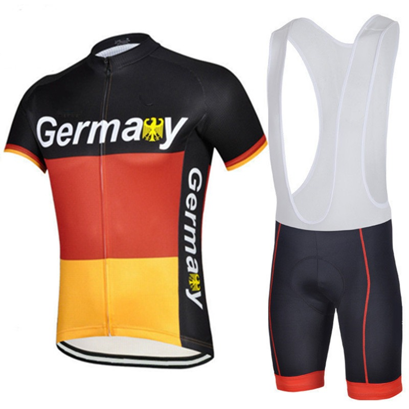 ФОТО 2016 Team Germany summer mens quick-dry bike Cycling jerseys flag breathable racing cloth MTB Ropa Ciclismo Bicycle maillot GEL