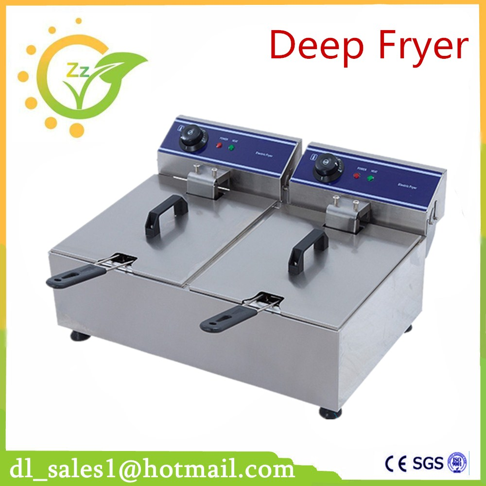 1PC Stainless Steel Commercial Electric Deep Fryer Frying Machine High Power Deep Fryers Fast Heating French Fries fast food leisure fast food equipment stainless steel gas fryer 3l spanish churro maker machine