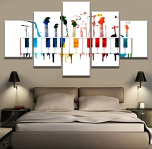 5 Piece HD Print Large Music Instruments Poster Modern Decorative Paintings on Canvas Wall Art for Home Decorations Decor