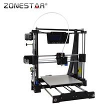 Zonestar 3D принтер DIY Kit Новое поступление высокая точность легко выравнивания акрил Рамка RepRap Prusa i3 ЖК-дисплей Боуден экструдера